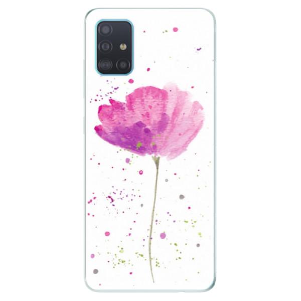 Odolné silikónové puzdro iSaprio - Poppies - Samsung Galaxy A51