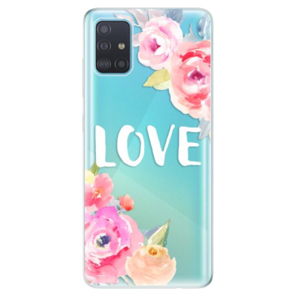 Odolné silikónové puzdro iSaprio - Love - Samsung Galaxy A51