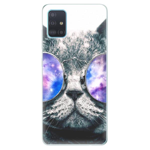 Odolné silikónové puzdro iSaprio - Galaxy Cat - Samsung Galaxy A51