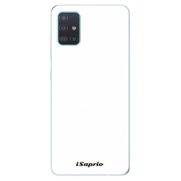 Odolné silikónové puzdro iSaprio - 4Pure - bílý - Samsung Galaxy A51