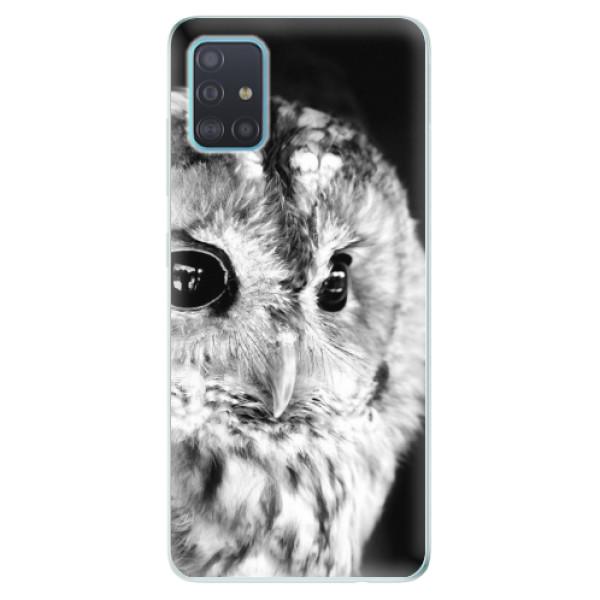 Odolné silikónové puzdro iSaprio - BW Owl - Samsung Galaxy A51