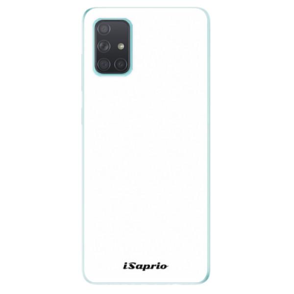 Odolné silikónové puzdro iSaprio - 4Pure - bílý - Samsung Galaxy A71