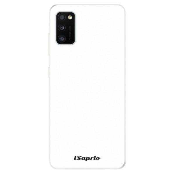 Odolné silikónové puzdro iSaprio - 4Pure - bílý - Samsung Galaxy A41