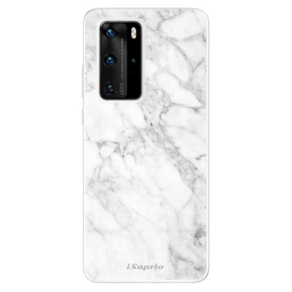 Odolné silikónové puzdro iSaprio - SilverMarble 14 - Huawei P40 Pro