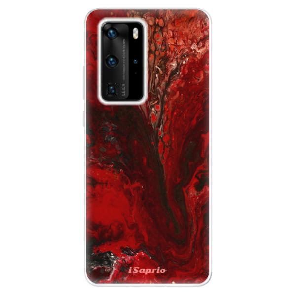 Odolné silikónové puzdro iSaprio - RedMarble 17 - Huawei P40 Pro