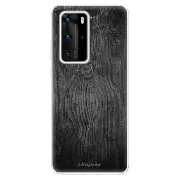 Odolné silikónové puzdro iSaprio - Black Wood 13 - Huawei P40 Pro