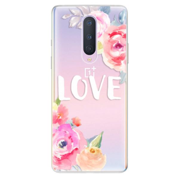 Odolné silikónové puzdro iSaprio - Love - OnePlus 8