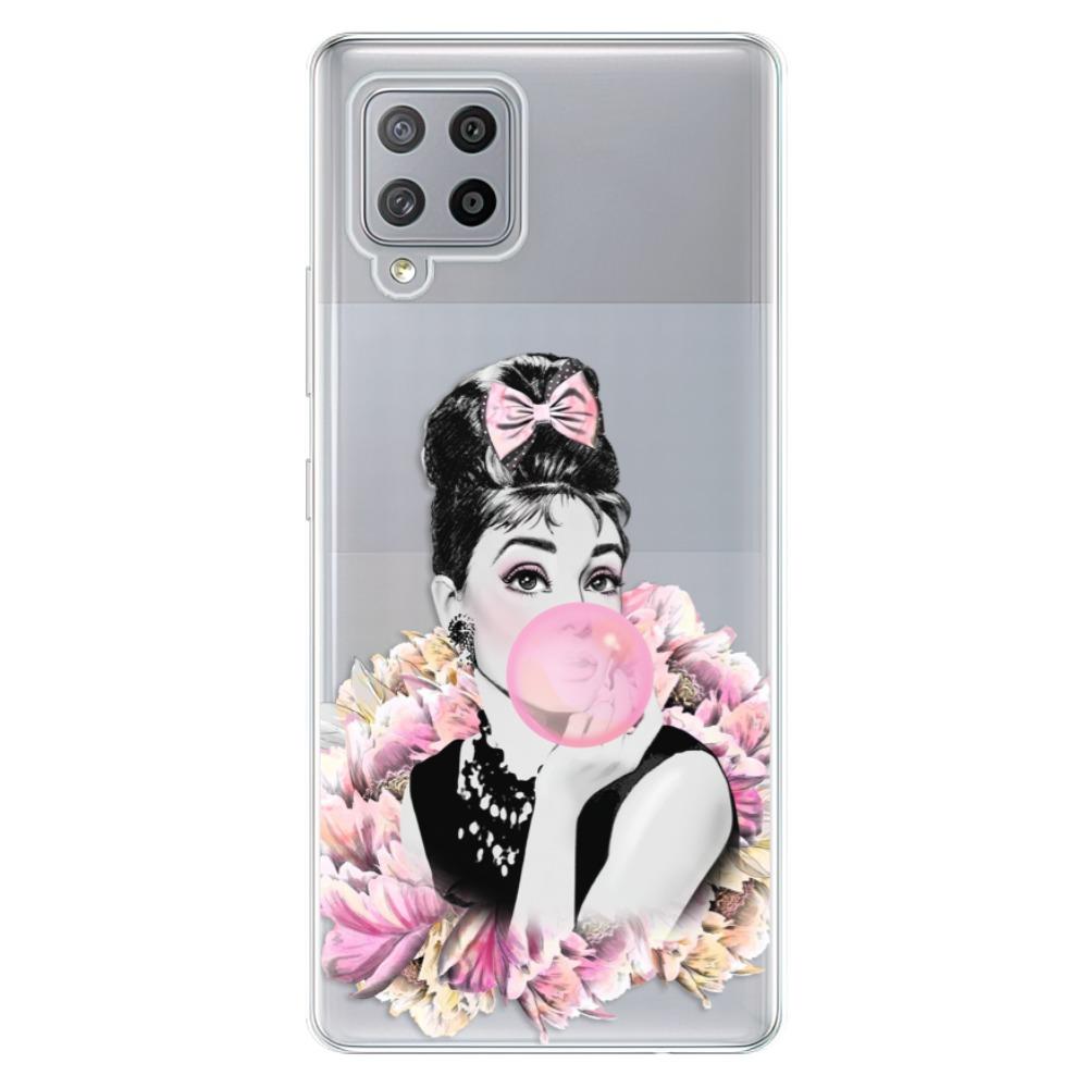 Odolné silikónové puzdro iSaprio - Pink Bubble - Samsung Galaxy A42