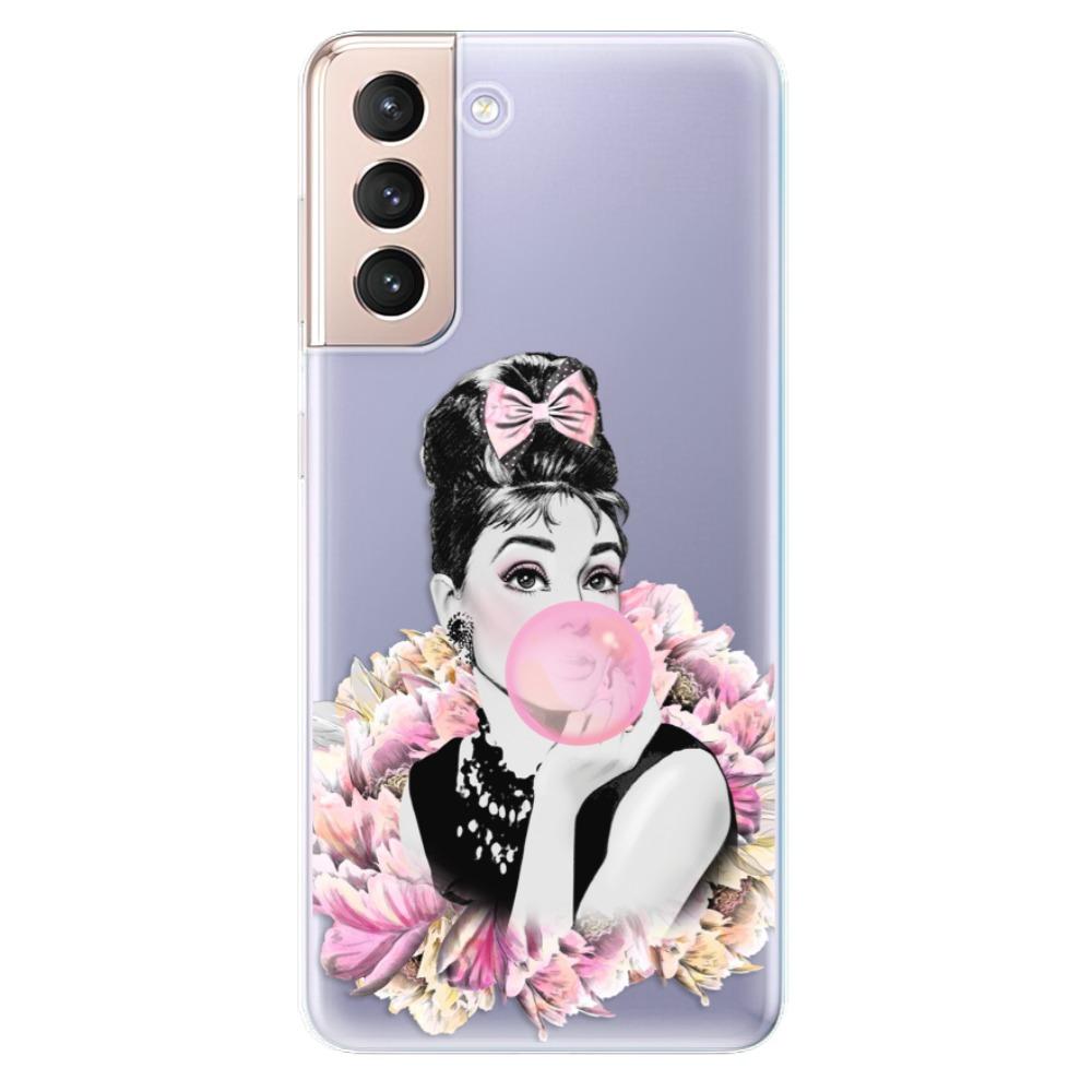 Odolné silikónové puzdro iSaprio - Pink Bubble - Samsung Galaxy S21