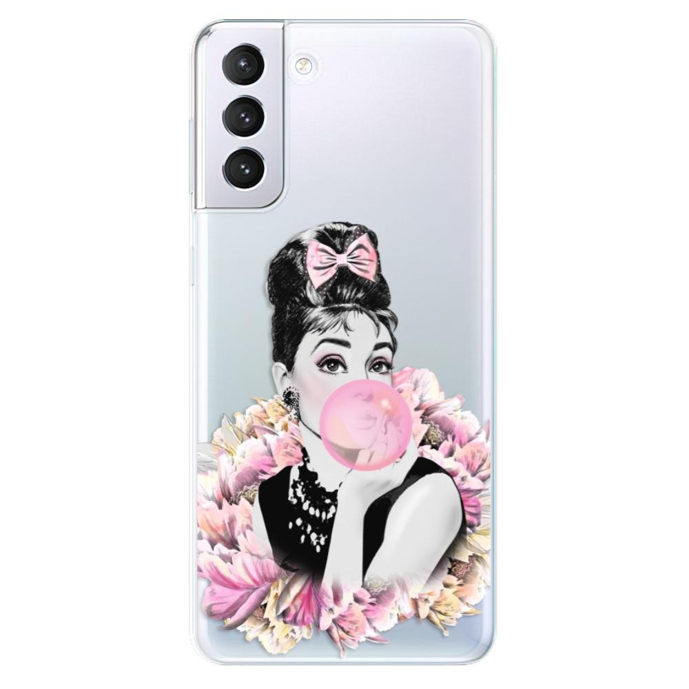 Odolné silikónové puzdro iSaprio - Pink Bubble - Samsung Galaxy S21+