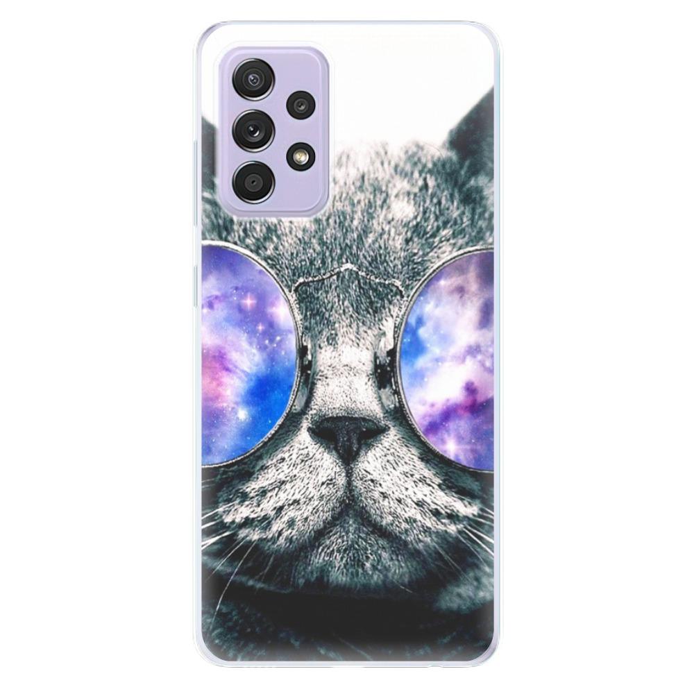 Odolné silikónové puzdro iSaprio - Galaxy Cat - Samsung Galaxy A52/A52 5G